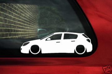 2x LOW vauxhall astra mk5, H, 5 door outline, silhouette, stickers,decals for astra cdti